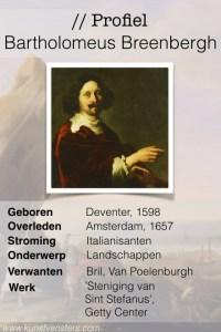 Profiel Bartholomeus Breenbergh