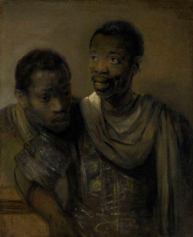 Rembrandt van Rijn - Twee Moren