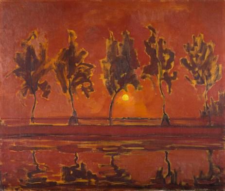 Piet Mondriaan - Bomen aan het Gein