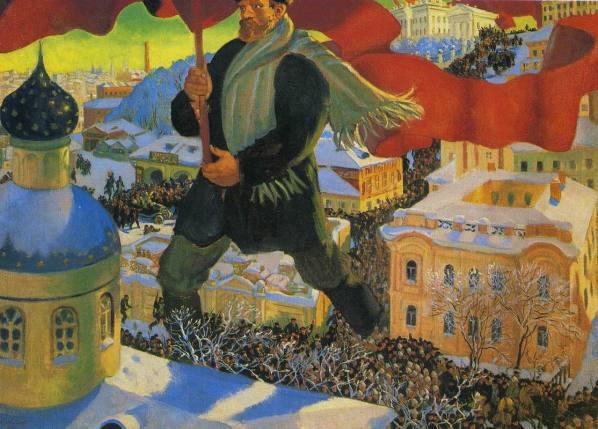 Boris Kustodiev - de Bolsjewiek