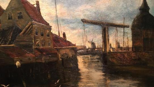 Vincent van Gogh - Stadsgezicht met Ophaalbrug
