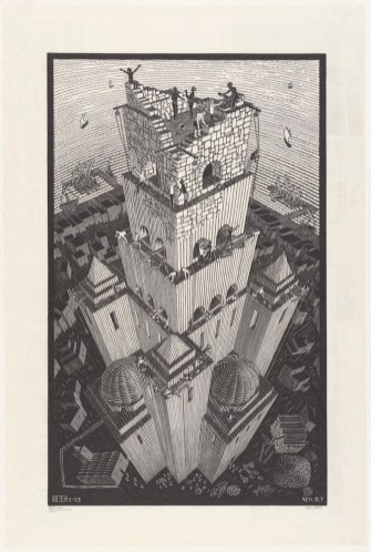 Toren van Babel (1928), M.C. Escher © the M.C. Escher Company B.V. All rights reserved. www.mcescher.com