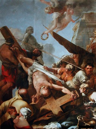 Sébastien Bourdon - Kruisiging van Petrus