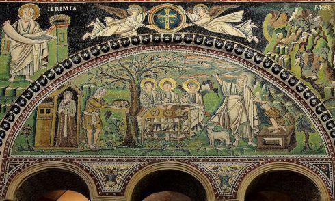 Offer van Izaak in de Basilica San Vitale (Ravenna)