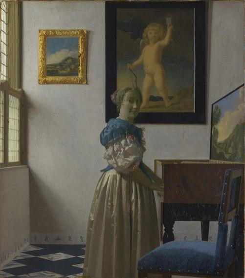Johannes Vermeer - Staande Virginaalspeelster
