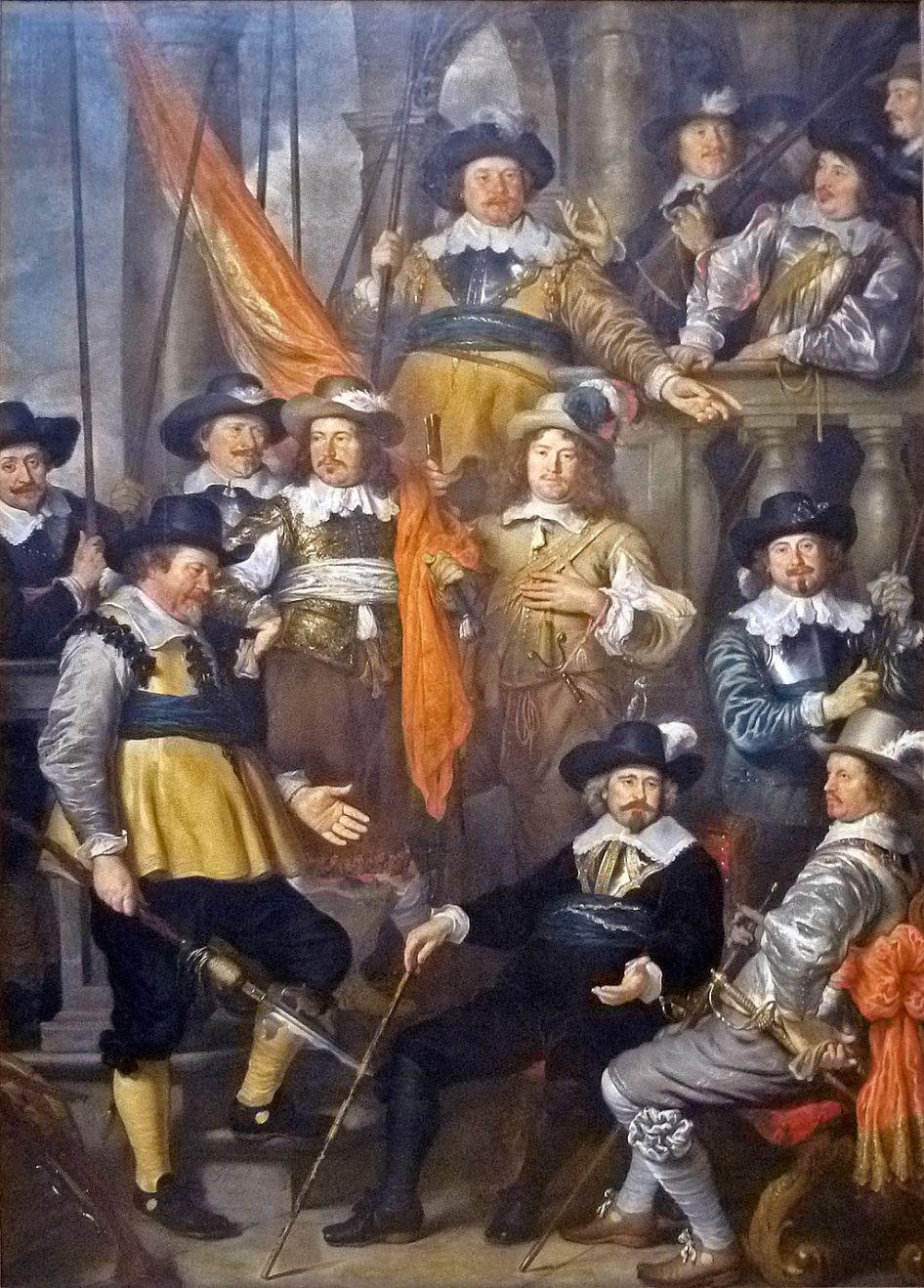 Govert Flinck - Het vendel van kapitein Albert Bas en luitenant Lucas Conijn