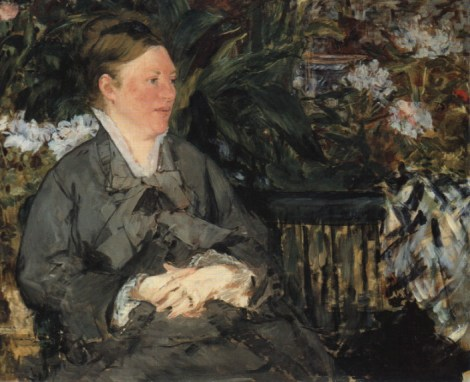 Edouard Manet - Mevrouw Manet in de Kas (Suzanne, 50 jaar)