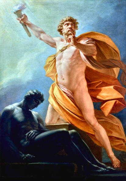 Friedrich Heinrich von Füger - Prometheus brengt vuur naar de mensheid
