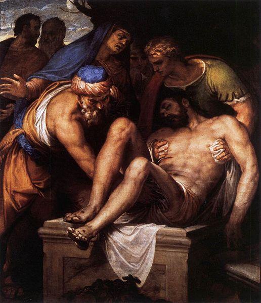 Paolo Veronese - de Graflegging van Christus