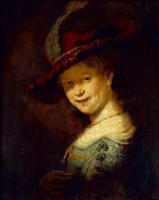 Rembrandt van Rijn - Lachende Saskia