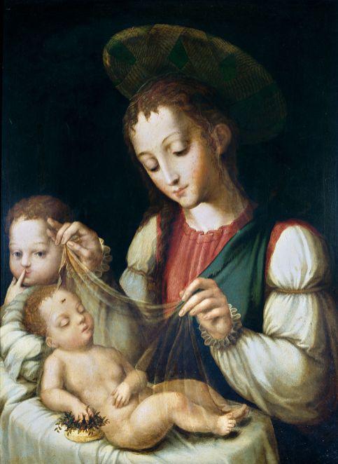 Luis de Morales - Madonna met Kind en Johannes de Doper