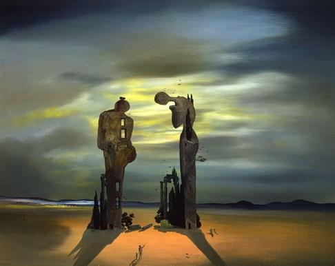 Salvador Dalí, 'Archaeological Reminiscence of Millet's Angelus', 1933-1935, Olieverf op paneel, © Salvador Dali, Fundacion Gala-Salvador Dali, c/o Pictoright Amsterdam 2019