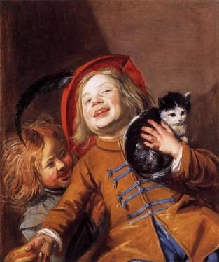 Judith Leyster - Twee kinderen met een Kat