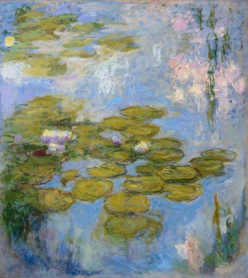 Claude Monet (1840-1926), Waterlelies, 1916-19, olieverf op doek, 200 x 180 cm, Fondation Beyeler.