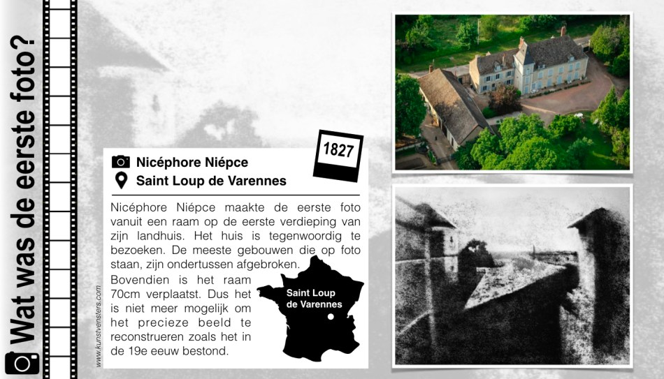1827 - Niepce - Oudste Foto