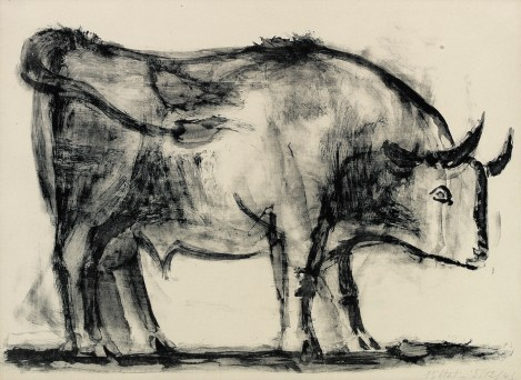 Pablo Picasso, De Stier, 1945, Kunstmuseum Pablo Picasso Münster, c/o Pictoright A'dam 2019