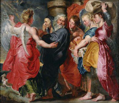 Jacob Jordaens - de Vlucht van Lot en zijn dochters