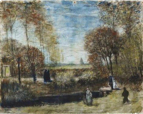 Vincent van Gogh - Aquarel van de Pastorietuin in het Noordbrabants Museum