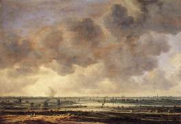 Jan van Goyen - Gezicht op het Haarlemmermeer