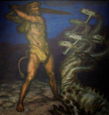 Franz von Stuck - Herakles en de Hydra