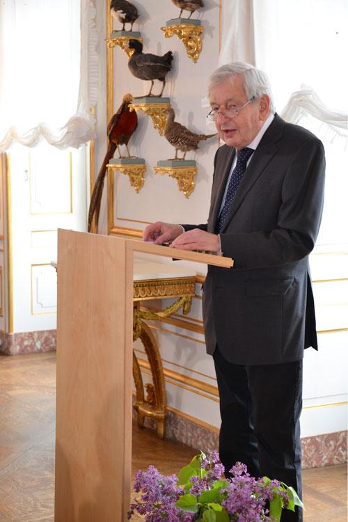Prof. Dr. Heinrich Magirius würdigte das Werk von Christoph Wetzel (Foto: Thomas Schlechte, Dresden)