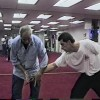 Willem de Thouars demonstrates silat knife fighting for Dan Inosanto