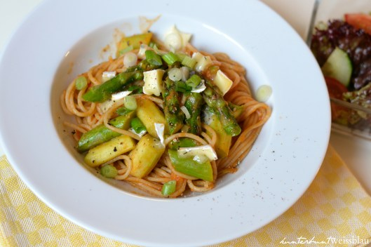 Tomaten Spargel Spaghetti III