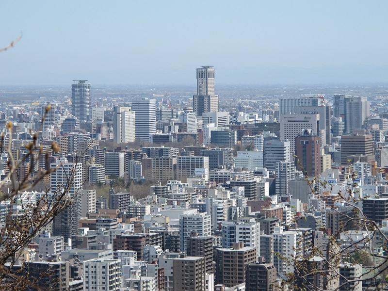 See? it was great view of Sapporo city!