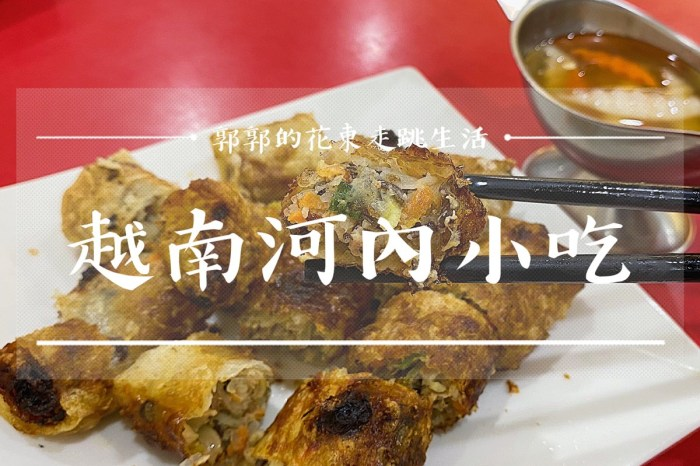 【花蓮壽豐】越南河內小吃┃壽豐火車站前乾淨整潔的東南亞料理┃