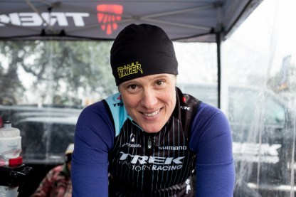 KFC: Katie Fn Compton (Trek Factory Racing) warming up on the rollers!!!!! 11 consecutive US National Championships!!!