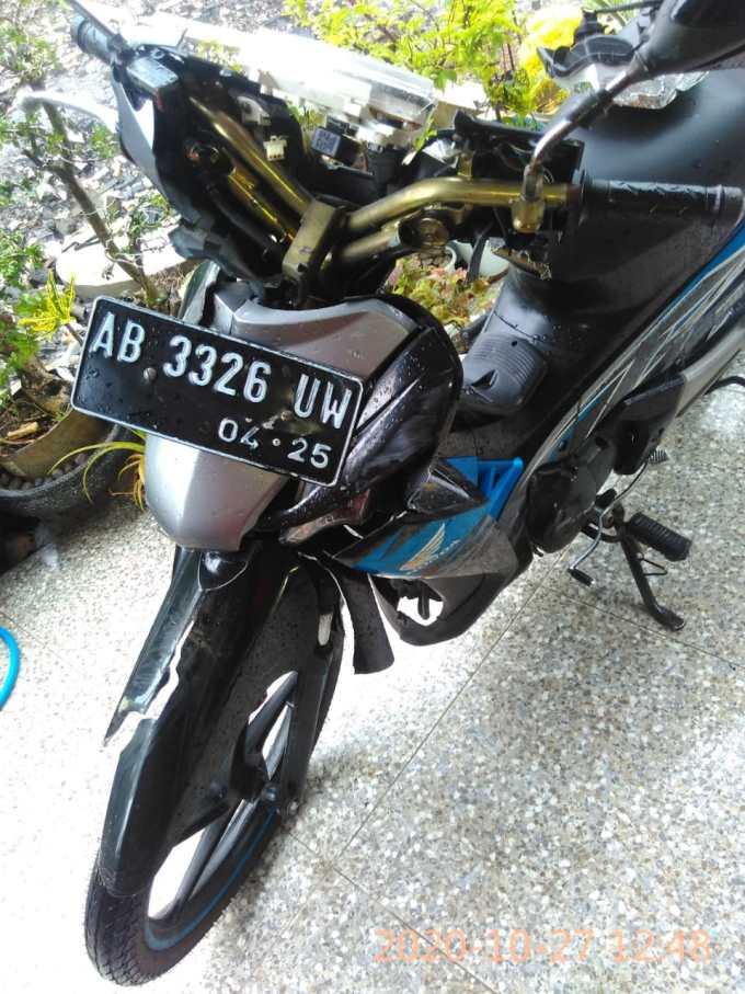 Kondisi sepeda motor korban