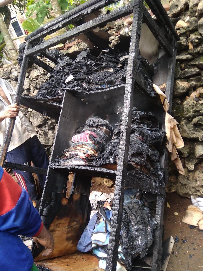 Barang korban yang terbakar