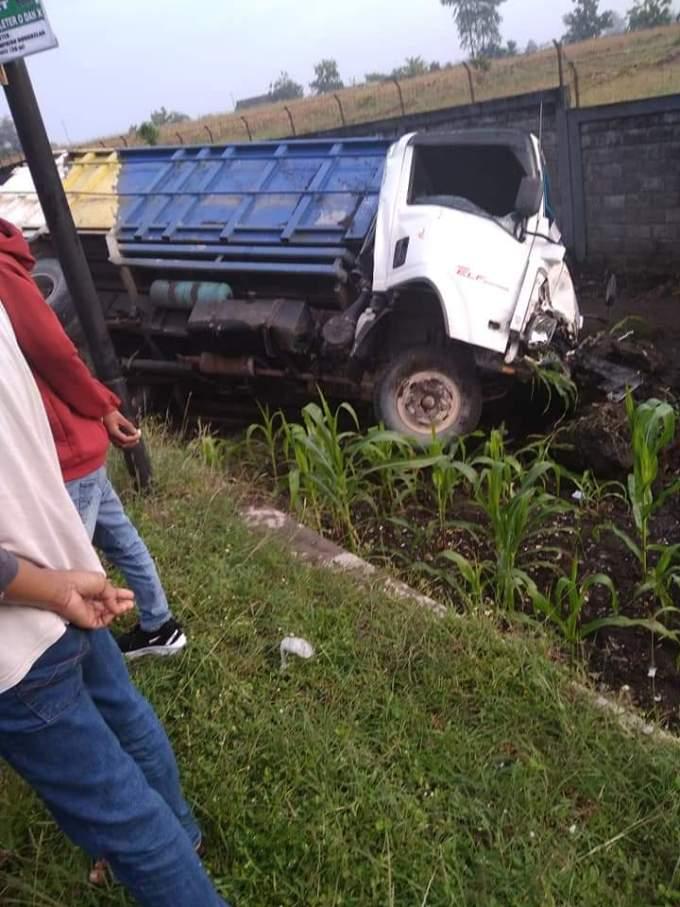 Kondisi Truck pasca kecelakaan