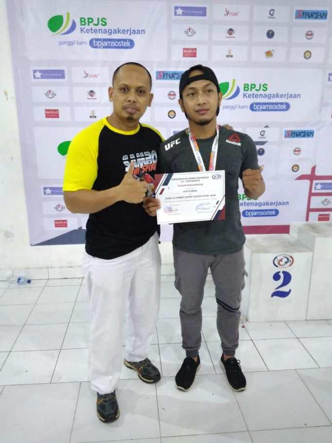 Heri Listyantoro dan Atlet Sambo Gunungkidul