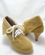 (AM-02) Sepatu Ankle Boot Heels Tan
