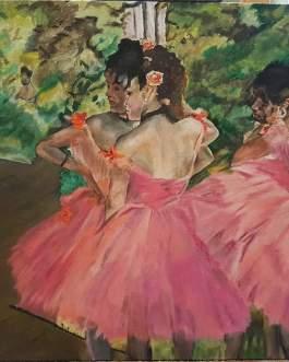 розовые танцовщицы. вольная копия Э.Дега