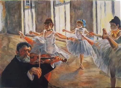танец. вольная копия Э.Дега