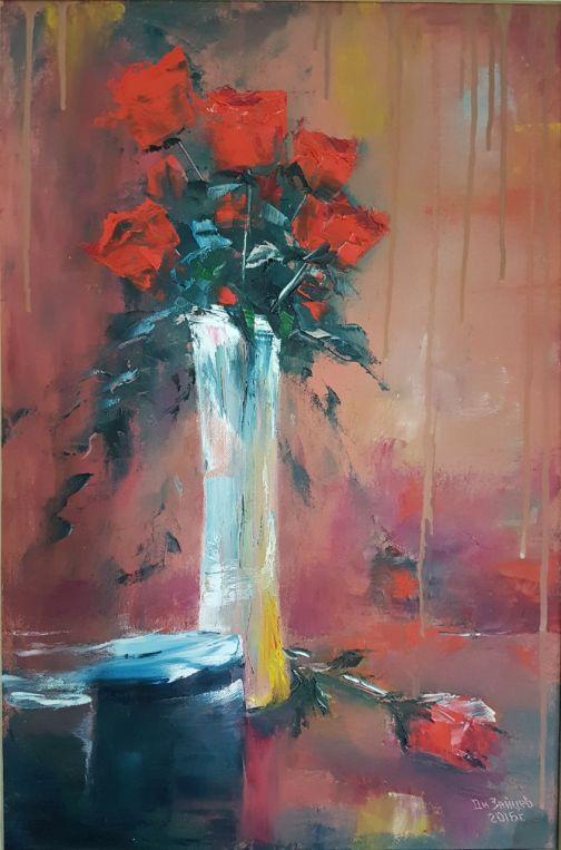 натюрморт розами