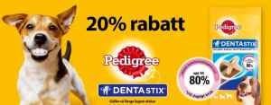 Pedigree DentaStix 20% rabatt hos Animail.se