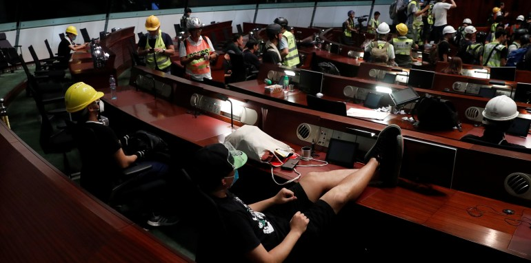 Chinese State Media Take Hard Line on Hong Kong Protests