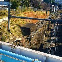 東京陸軍造兵廠電気軌道線の橋台跡