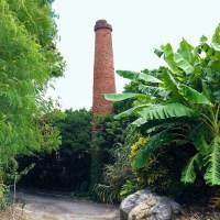 糸満市の製糖工場跡にある煙突