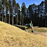 南九州市知覧町に残る「無蓋掩体壕」