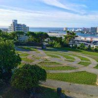 那覇市金城に残る高射砲陣地跡「がじゃんびら公園」