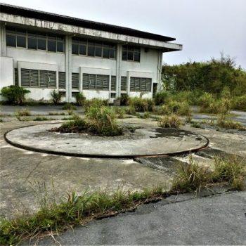 名護市の多野岳にあった「防空ホークミサイル発射台跡」