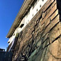 大阪城天守閣の「天守台石垣の爆撃被害跡」