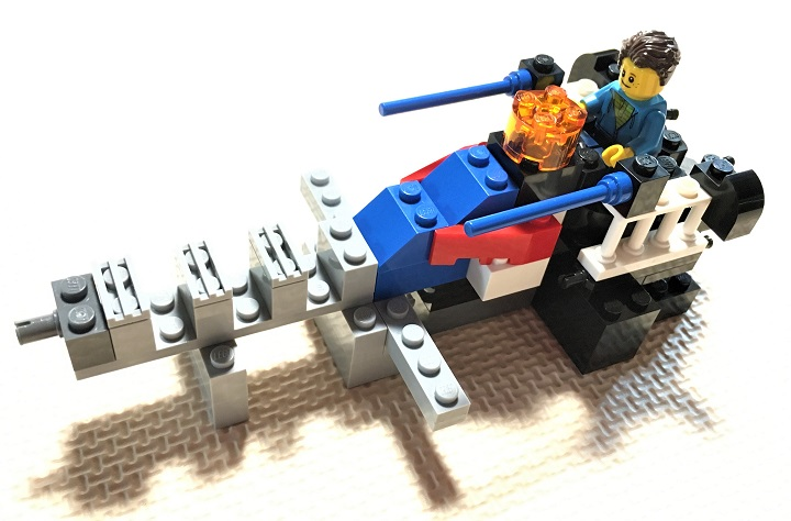 how to make a mini lego spaceship