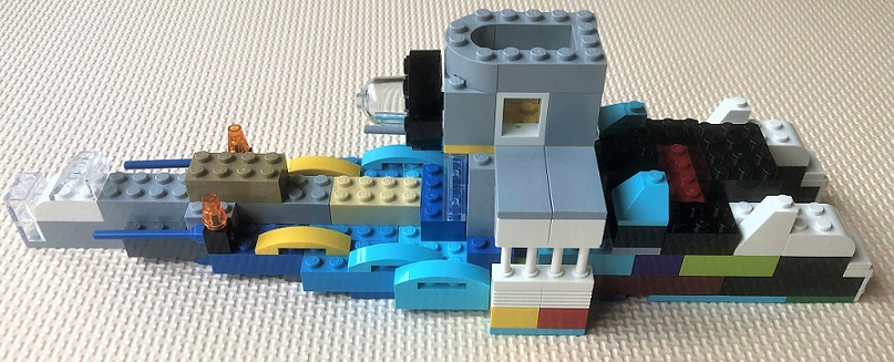 how to make a lego battleship turret