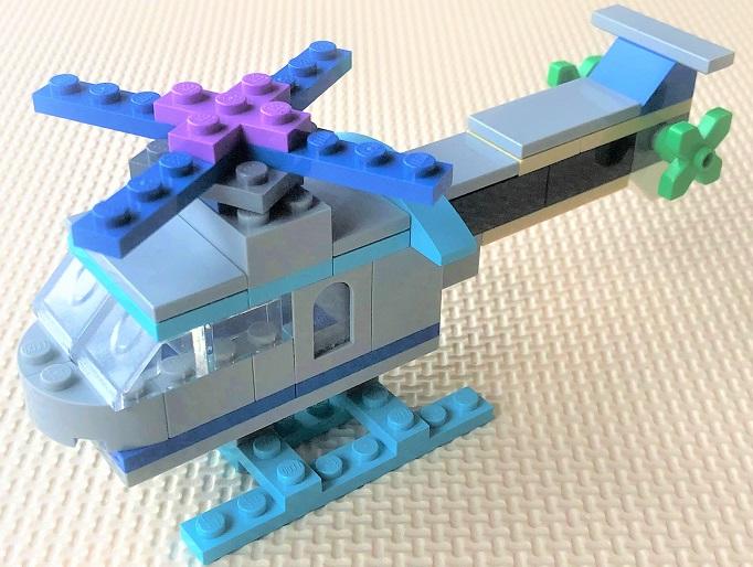 レゴクラシック ヘリコプターを自作