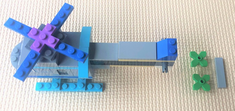 how to make a lego helicopter step by step